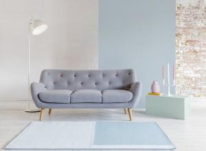pastel design trends on our Grey Kennington sofa