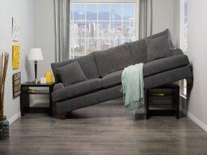 Large sofa tiny living room