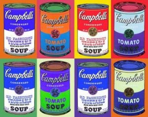 Warhol campbell's soup print