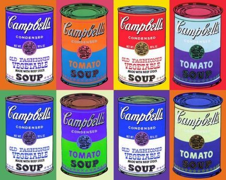 Warhol campbell's soup print