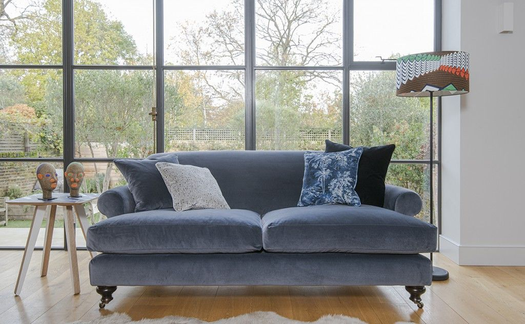 Hampton 4 seater sofa in Designers Guild Varese Granite