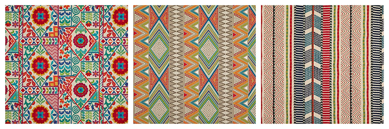 Kahlo, Fiesta & Rebozo fabrics by GP & J Baker