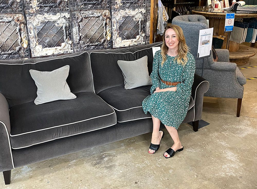 Amy fell in love when she saw our Waverley sofa in the Manchester showroom