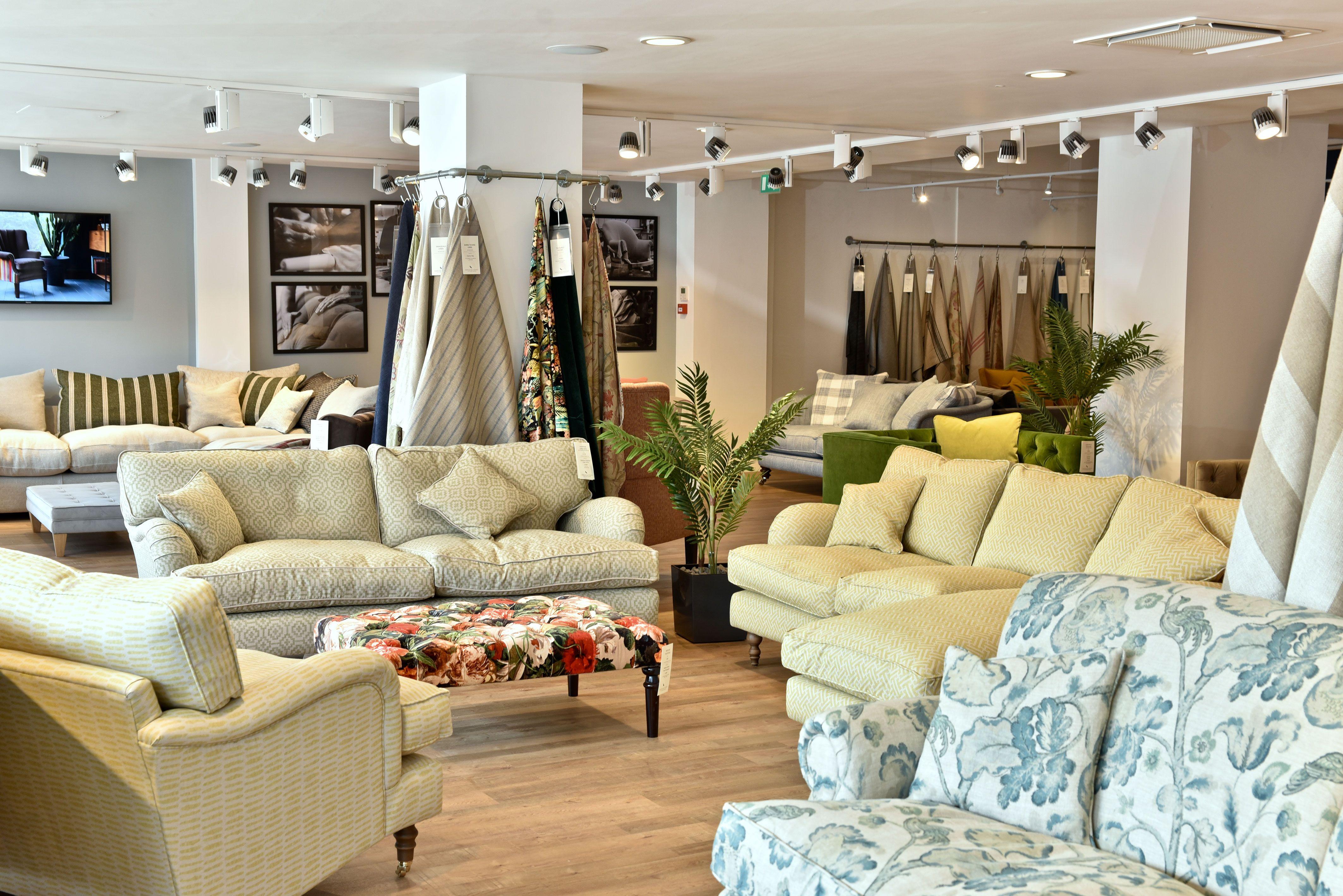 Interior of our new Knutsford sofa shop
