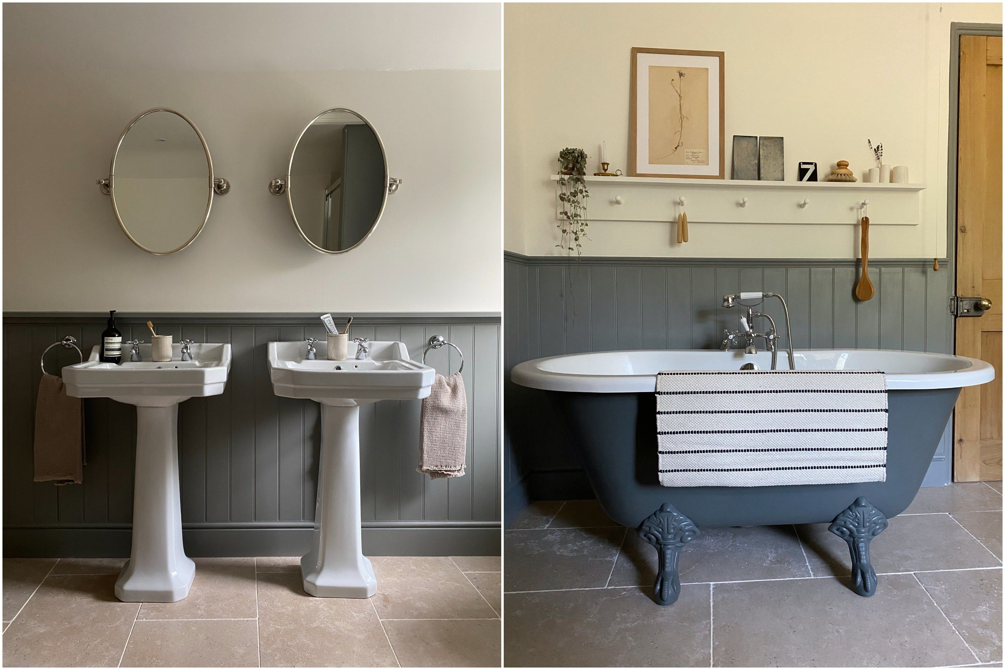 Jessi Harris his and hers basins and freestanding bath