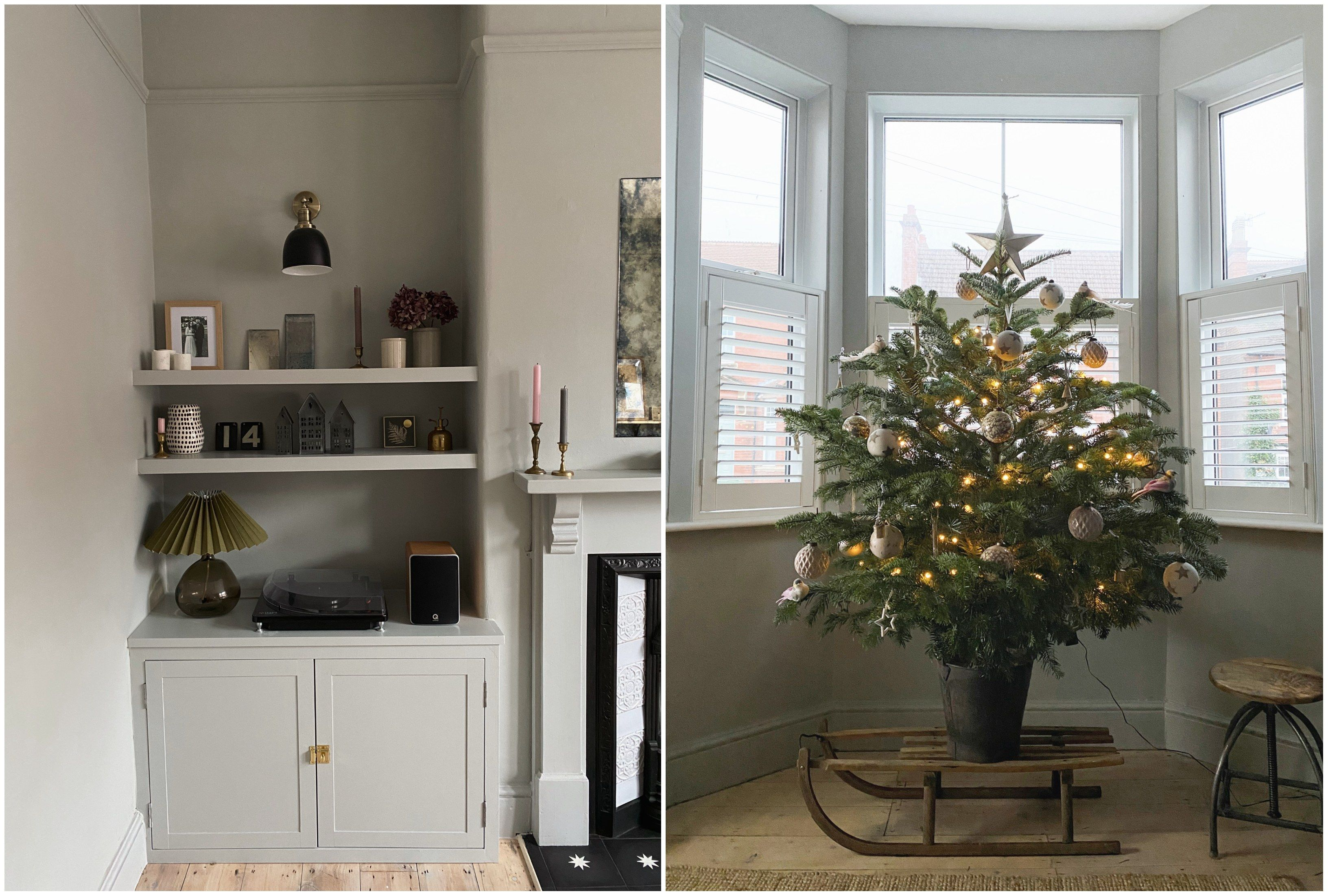 To complement her Victorian aesthetic, this Christmas Jessi has chosen a traditional tree.