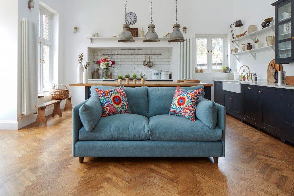 British made Madehurst 3 seater sofa in House Plain Sky