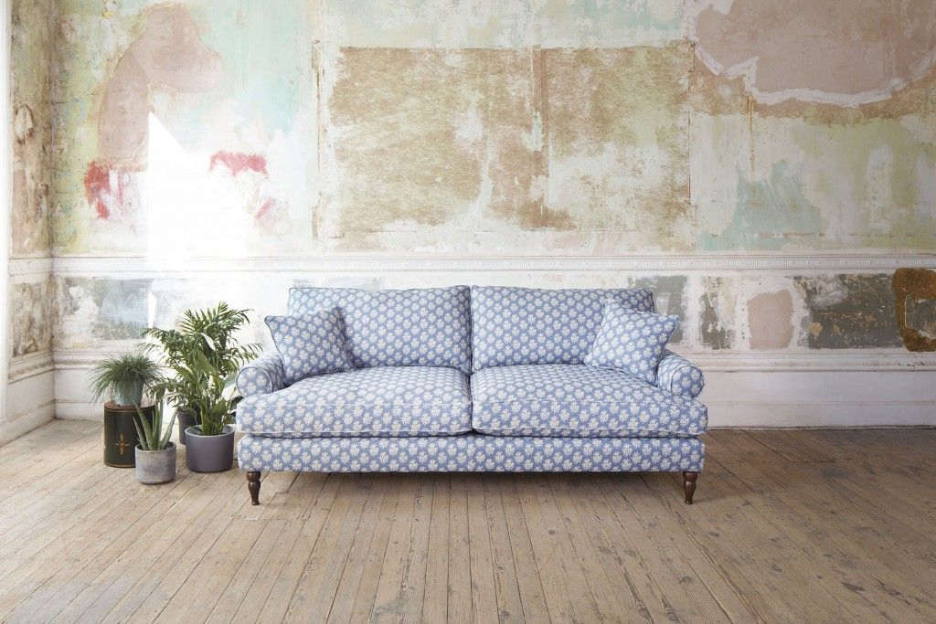 Featuring the Cooksbridge 4 seater sofa in Cloth 21 Coral 1 Bilberry