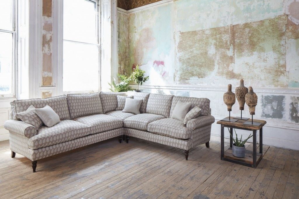 Featuring the Cooksbridge Corner Sofa in Cloth 21 Oak Leaf Beech Cotton Fabric