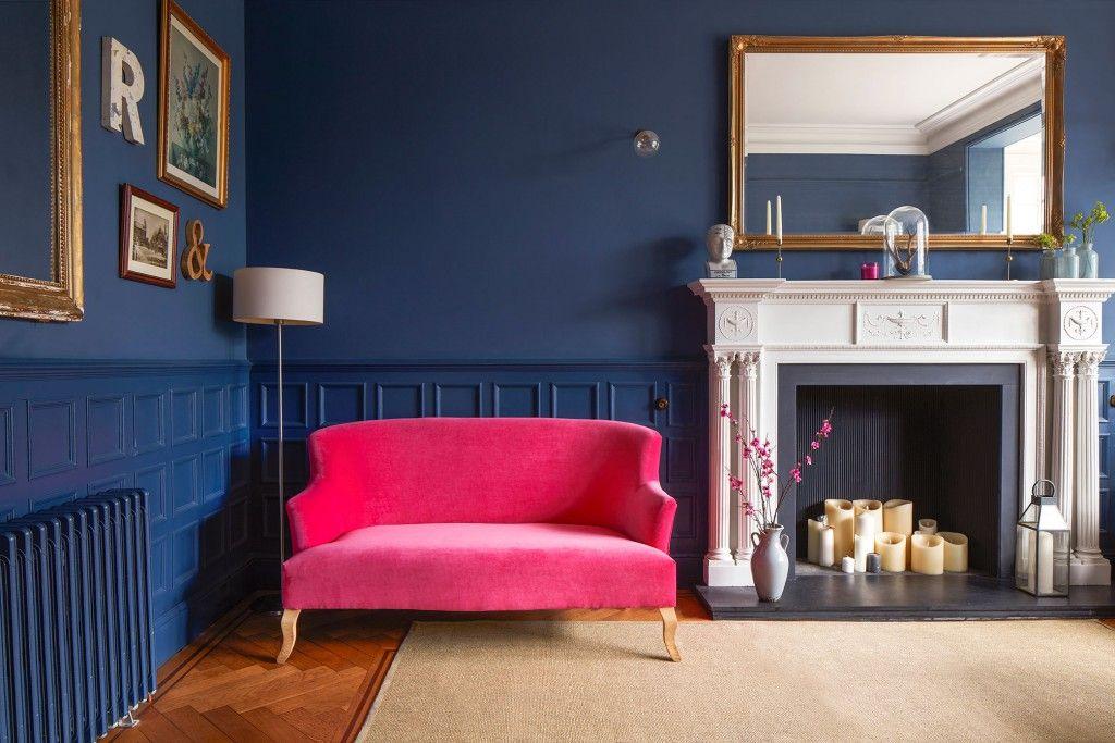 Grassington sofa in Napoli Velvet Fuschia