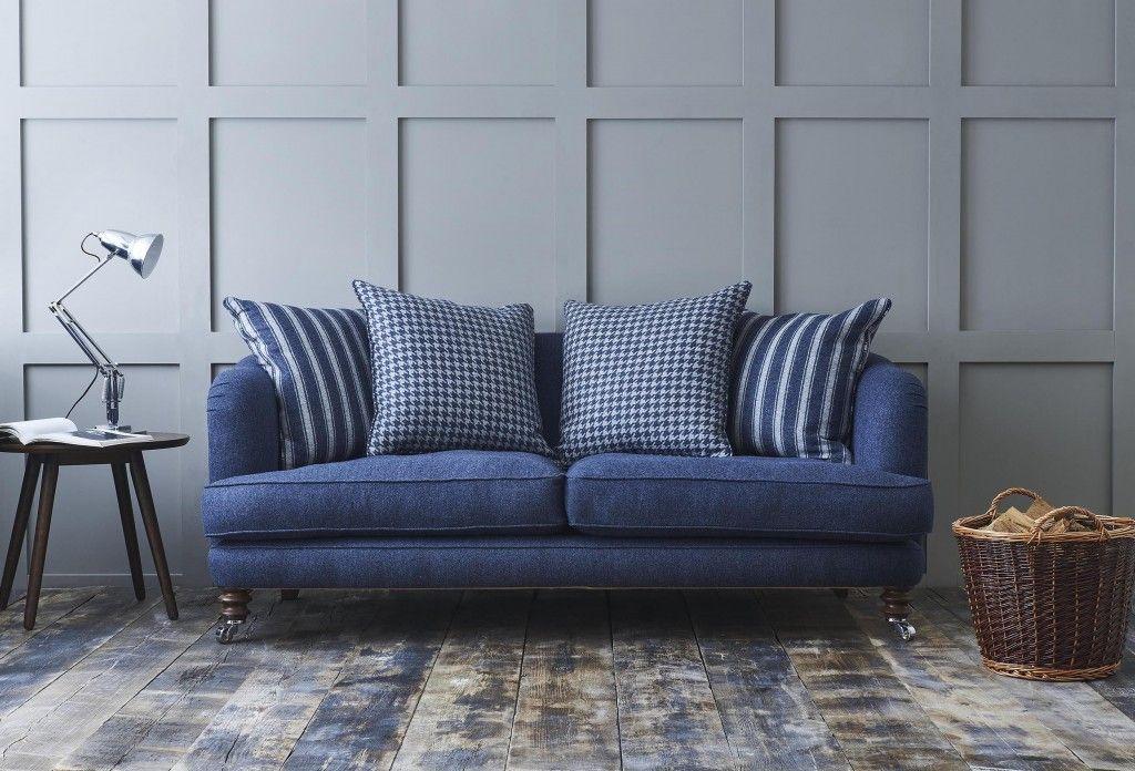 Helmsley 3 seater sofa in Ian Mankin wool sofa fabric